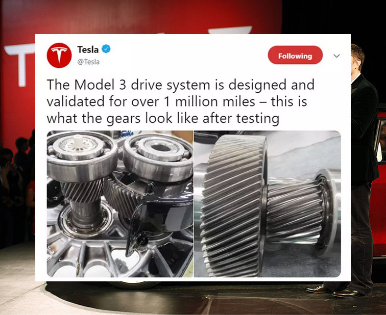 The million miles lifespan car by Tesla 280 tesla model 3 after one million drive